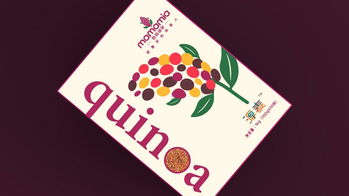 妈妈迷芽藜麦quinoa标志包装设计