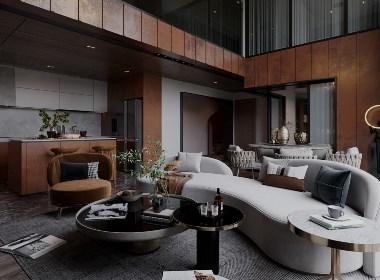 暖棕色系公寓,沉浸在其优雅风韵之中。