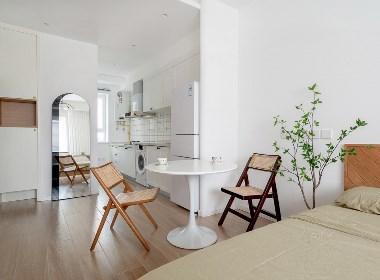 「久栖设计」超理想的25㎡一人居公寓,小巧简单有仙气