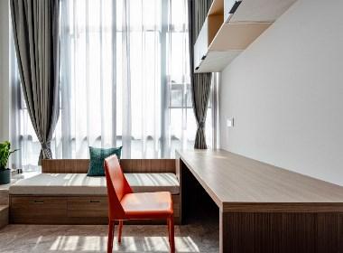 长空新作丨34㎡迷你公寓,最大化利用空间!构建现代阁楼小居!