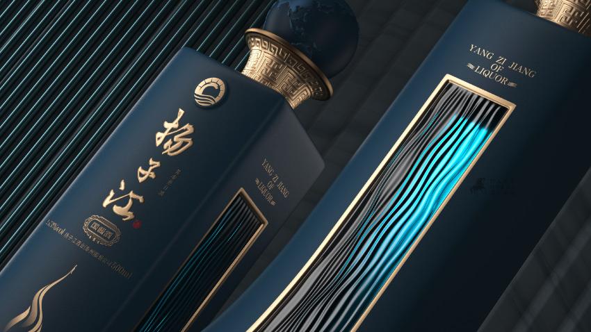 新派酱酒扬子江国酱酒包装设计【黑马奔腾设计】