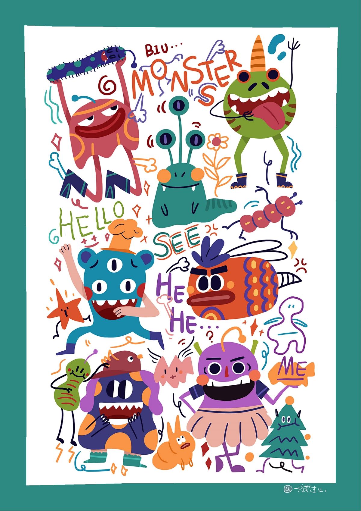 Doodle插画