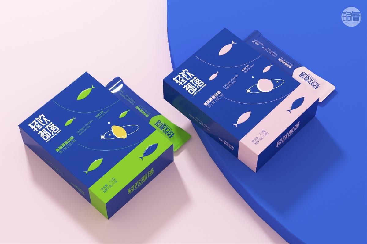 胶原蛋白肽固体饮料包装设计©刘益铭原创作品
