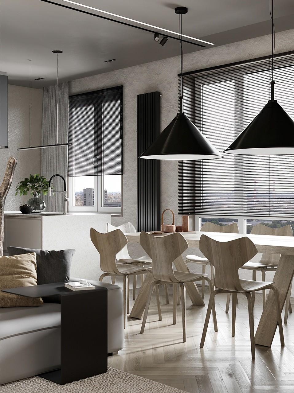 小空间公寓设计 超有设计感!