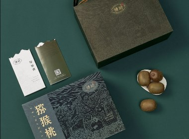 田里优选 × 3721设计 | 版画雕刻的猕猴桃果礼美学