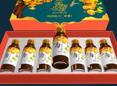 黑森林设计饮品包装:渼食渼课银杏饮品包装策划