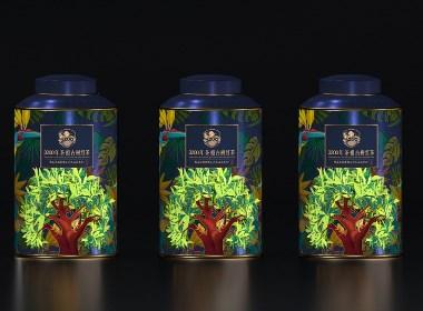 """黑森林设计茶叶包装:3200茶品牌新包装应用 ,茶祖茶""""金罐多泡""""系列包装"""