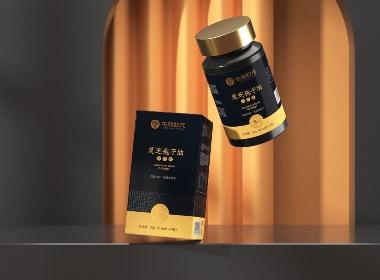保健包装设计 灵芝孢子油 软胶囊 包装设计©刘益铭 原创作品