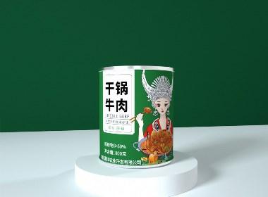 牛肉罐头包装设计