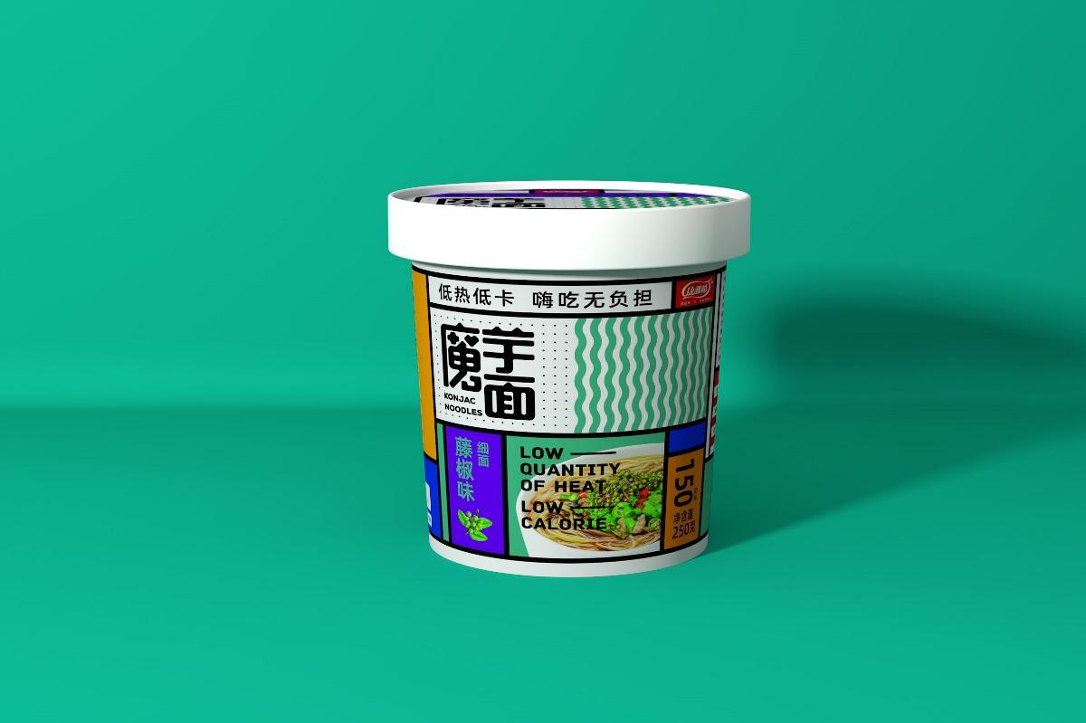 April作品「康雅酷」魔芋面包装设计