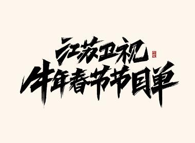 阿庆板写《江苏卫视春晚》字体设计展示
