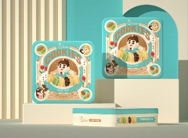 尚智×爸爸糖   六重奏曲奇礼盒/马卡龙食品包装设计