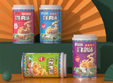 粤猫品牌 侗湘农业 —— 好料出好汤,美味高汤包装设计