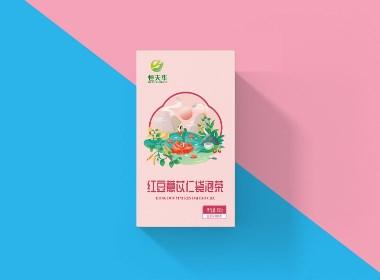 木槿花设计 养生茶系列包装设计
