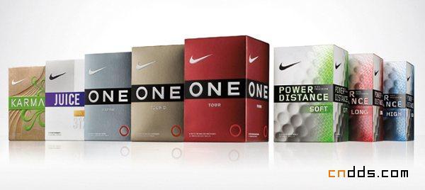 耐克高尔夫球类包装全面革新