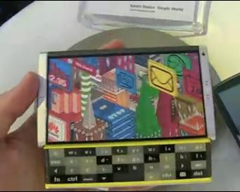 华为展示超酷名片夹式侧拉键盘概念手机