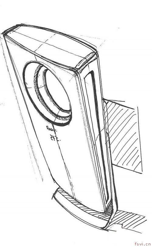 海尔全新空调设计草图被曝光 疑为概念机?