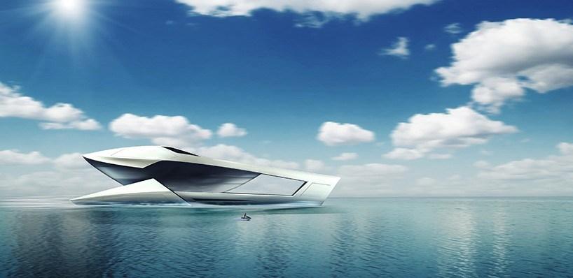 海洋版变形金刚:荷兰海平面游艇设计工作室设计带瀑布