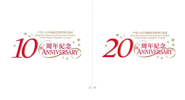 网站(www.hksar20.gov.hk)以及六个充满活力的时尚图像设计.-香