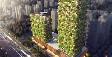 """意建筑师为中国设计抗污染""""垂直森林""""建筑"""