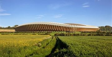 扎哈-哈迪德建筑事务所设计世界上第一个木头足球体育场