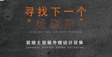 """寻找下一个""""杨晓燕"""" """"素""""- 混凝土音箱设计征集"""