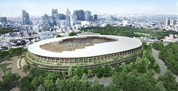 隈研吾设计的东京奥运会体育场开始建设