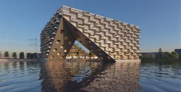 BIG公布阿姆斯特丹湖上大厦设计