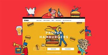 它邀请来三位插画师就为卖个汉堡