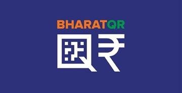印度无现金收付Bharat QR新LOGO