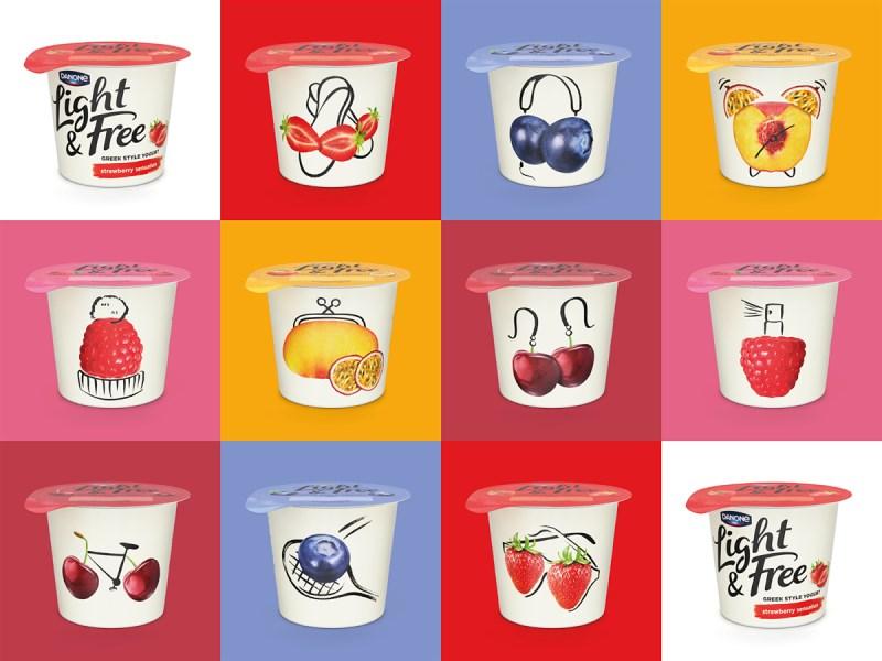 达能酸奶Light & Free包装设计集合.png