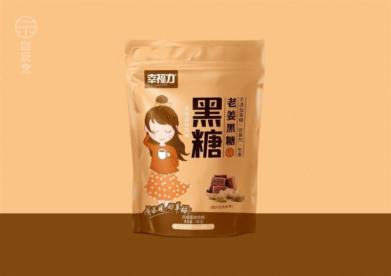 幸福力养生黑糖系列包装设计欣赏.jpg