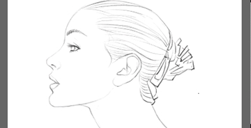 Painter如何手绘写意秀美头像