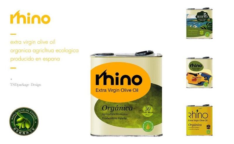 犀牛特级初榨橄榄油包装设计欣赏.jpg
