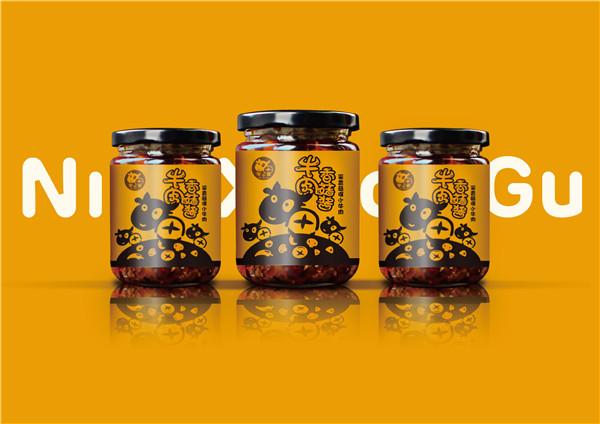 牛小菇香菇酱包装设计.jpg