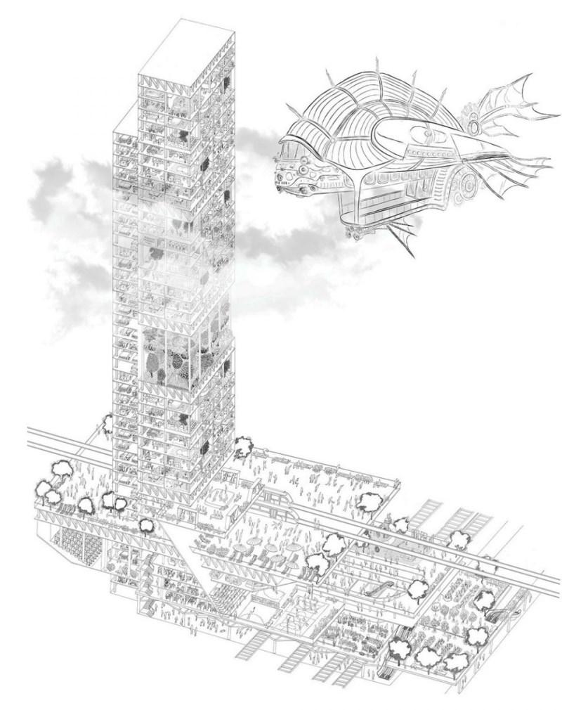 eVolo 2017 摩天大楼设计大赛 - wuwei1101 - 西花社