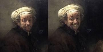 """这个插画师去了趟荷兰,结果悲伤的名画都""""笑了起来"""