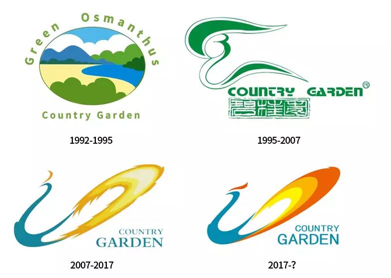 中国大型房地产开发商碧桂园发布全新logo