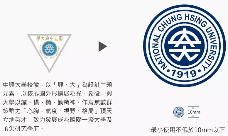 """台湾""""国立""""中兴大学更换新LOGO设计图1.png"""