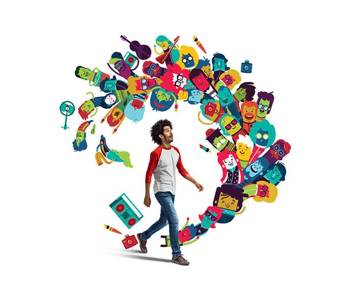 平面设计频道 专业教程 教程文章  广告设计的过程就是图形元素应用和