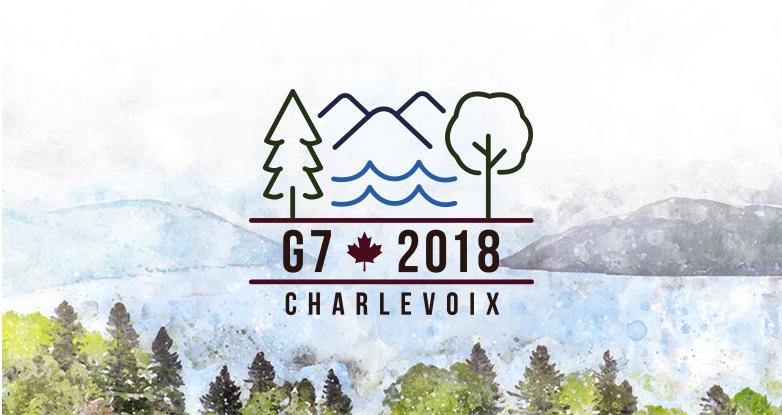 加拿大2018年七国集团峰会G7官方logo发布