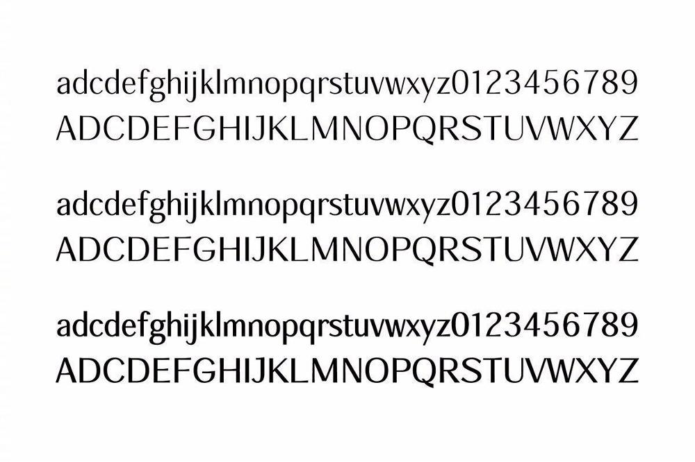 三种字重分别有配套设计的英文字体.jpg