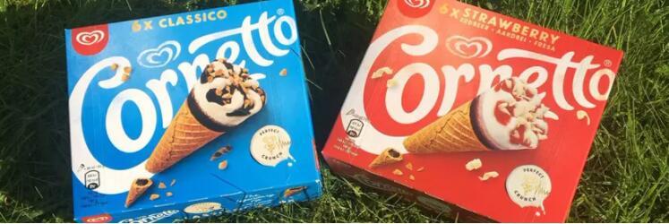 """甜筒之王""""可爱多cornetto""""更换新logo并推出新包装"""
