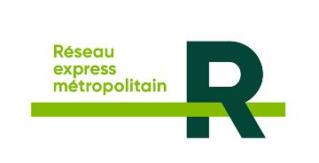 蒙特利尔轻轨交通系统LOGO -快速奔跑的R