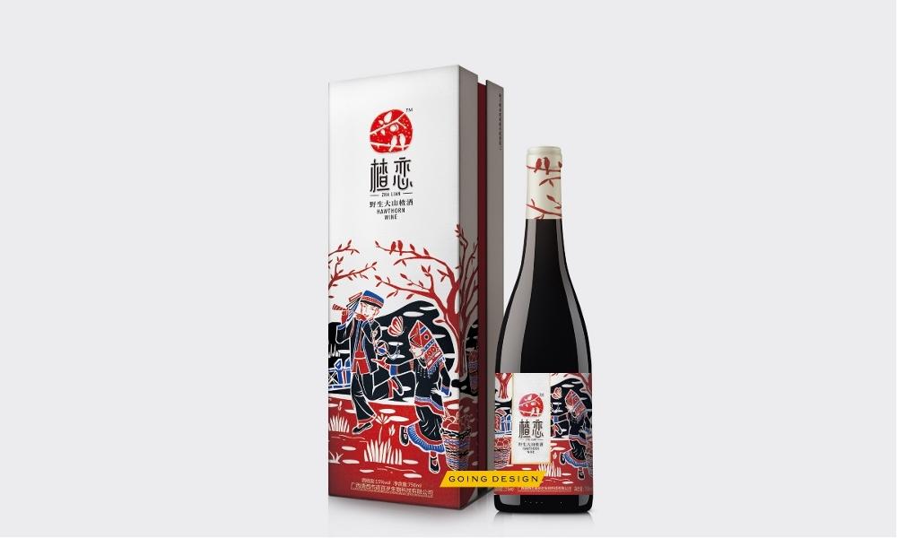 广西省野生山楂酒包装设计,果酒包装设计-----古一设计.jpeg