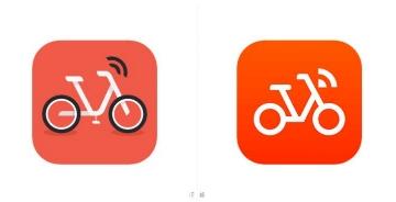 摩拜单车调整logo图标