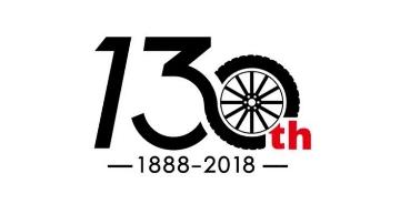130岁的邓禄普轮胎发布纪念logo
