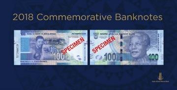 为纪念曼德拉诞辰100周年,南非发布一套纪念钞票