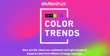 Shutterstock2019年色彩趋势:探索世界上最流行的色彩