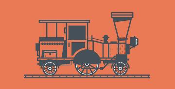AI绘制复古火车插画小教程